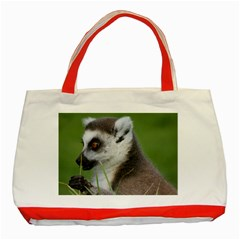 Ring Tailed Lemur  2 Classic Tote Bag (red)