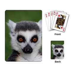 Ring Tailed Lemur Playing Cards Single Design