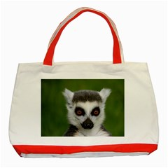 Ring Tailed Lemur Classic Tote Bag (red)