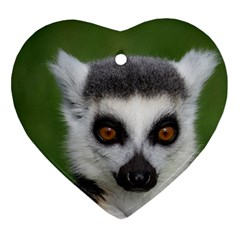 Ring Tailed Lemur Heart Ornament (Two Sides)