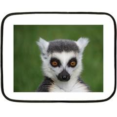 Ring Tailed Lemur Mini Fleece Blanket (two Sided)