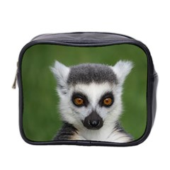 Ring Tailed Lemur Mini Travel Toiletry Bag (Two Sides)