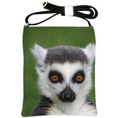 Ring Tailed Lemur Shoulder Sling Bag