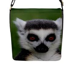Ring Tailed Lemur Flap Closure Messenger Bag (Large)