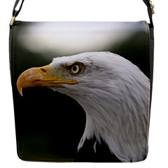 Bald Eagle (1) Flap closure messenger bag (Small)
