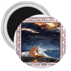 Stormy Twilight Ii [framed]  3  Button Magnet