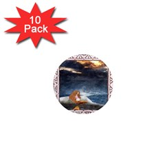 Stormy Twilight Ii [framed]  1  Mini Button Magnet (10 pack)