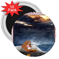 Stormy Twilight Ii [framed]  3  Button Magnet (10 pack)