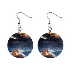 Stormy Twilight Ii [framed]  Mini Button Earrings