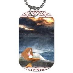 Stormy Twilight Ii [framed]  Dog Tag (one Sided)