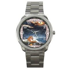 Stormy Twilight Ii [framed]  Sport Metal Watch