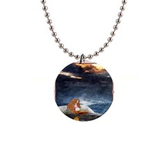 Stormy Twilight Ii [framed]  Button Necklace