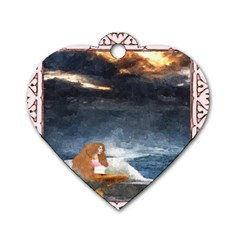 Stormy Twilight Ii [framed]  Dog Tag Heart (Two Sided)