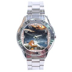Stormy Twilight Ii [framed]  Stainless Steel Watch (men s)