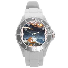 Stormy Twilight Ii [framed]  Plastic Sport Watch (Large)