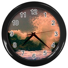 Big wave Wall Clock (Black)
