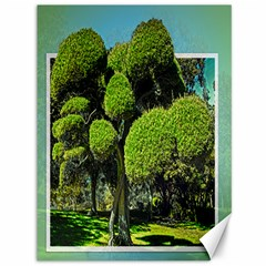 Round Top Tree In 3d Canvas 36  X 48  (unframed)