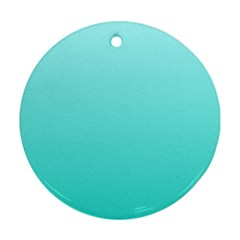 Celeste To Turquoise Gradient Round Ornament