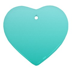 Celeste To Turquoise Gradient Heart Ornament