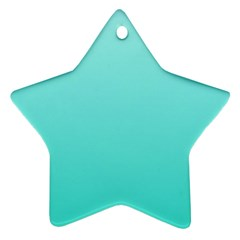 Celeste To Turquoise Gradient Star Ornament