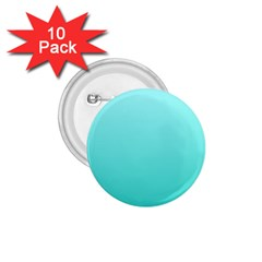 Celeste To Turquoise Gradient 1 75  Button (10 Pack)