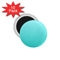 Celeste To Turquoise Gradient 1 75  Button Magnet (10 Pack)