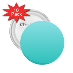 Celeste To Turquoise Gradient 2 25  Button (10 Pack)
