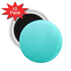 Celeste To Turquoise Gradient 2.25  Button Magnet (10 pack)