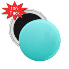 Celeste To Turquoise Gradient 2 25  Button Magnet (100 Pack)