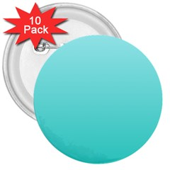 Celeste To Turquoise Gradient 3  Button (10 pack)
