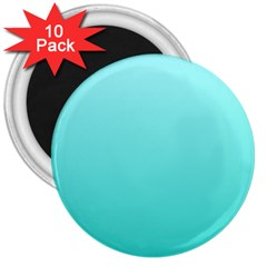 Celeste To Turquoise Gradient 3  Button Magnet (10 Pack)