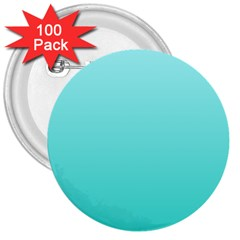Celeste To Turquoise Gradient 3  Button (100 pack)