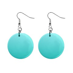 Celeste To Turquoise Gradient Mini Button Earrings