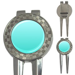 Celeste To Turquoise Gradient Golf Pitchfork & Ball Marker
