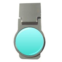 Celeste To Turquoise Gradient Money Clip (Round)