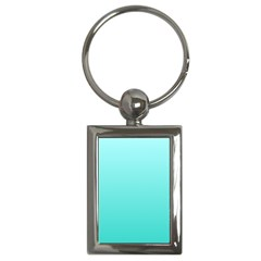 Celeste To Turquoise Gradient Key Chain (Rectangle)