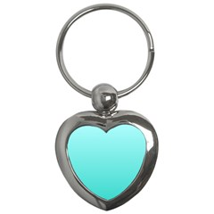 Celeste To Turquoise Gradient Key Chain (Heart)
