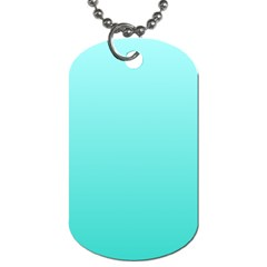 Celeste To Turquoise Gradient Dog Tag (One Sided)