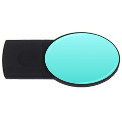 Celeste To Turquoise Gradient 1GB USB Flash Drive (Oval)