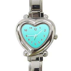 Celeste To Turquoise Gradient Heart Italian Charm Watch