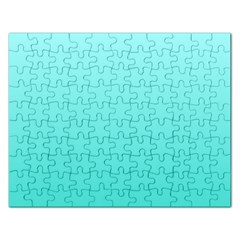 Celeste To Turquoise Gradient Jigsaw Puzzle (Rectangle)