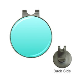 Celeste To Turquoise Gradient Hat Clip with Golf Ball Marker