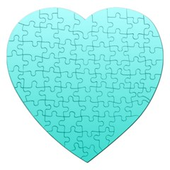 Celeste To Turquoise Gradient Jigsaw Puzzle (Heart)