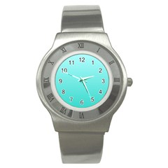 Celeste To Turquoise Gradient Stainless Steel Watch (unisex)