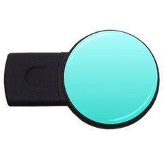 Celeste To Turquoise Gradient 4GB USB Flash Drive (Round)