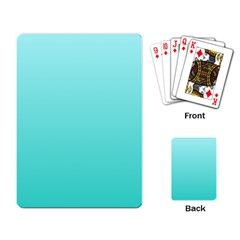 Celeste To Turquoise Gradient Playing Cards Single Design
