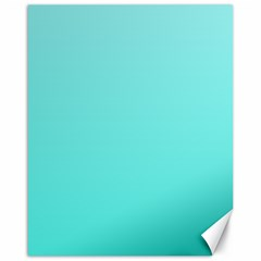 Celeste To Turquoise Gradient Canvas 16  X 20  (unframed)