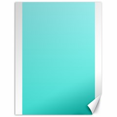 Celeste To Turquoise Gradient Canvas 18  x 24  (Unframed)