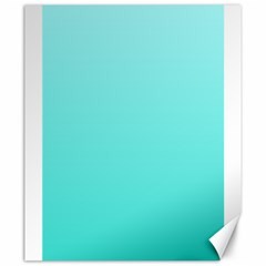Celeste To Turquoise Gradient Canvas 20  x 24  (Unframed)