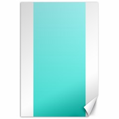 Celeste To Turquoise Gradient Canvas 20  X 30  (unframed)